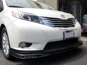 Toyota Sienna Front Lip with LED Lights Installation