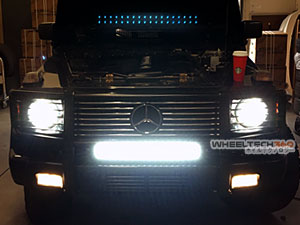 Mercedes Benz G Wagon HID Headlights and LED Light Bar Installation