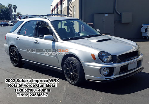 2002 Subaru Impreza WRX with Rota G-Force 17x8 5x100+48mm Gun Metal (235/45/17 Tires)