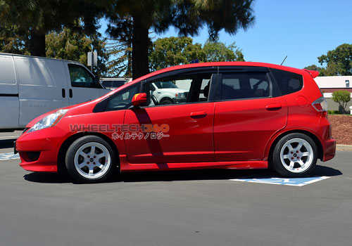 Honda Fit with Rota Grid Concave Wheels 15 x 8