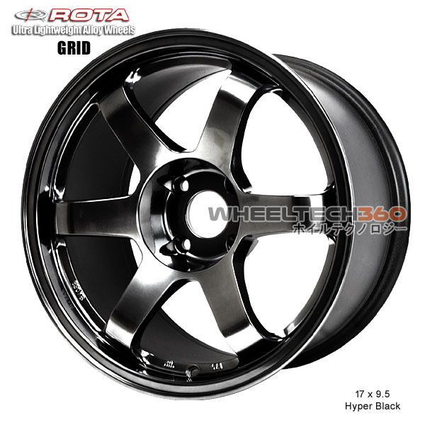 ROTA Wheel Grid (17x9.5, 4x114.3+12mm, 73mm Hub)
