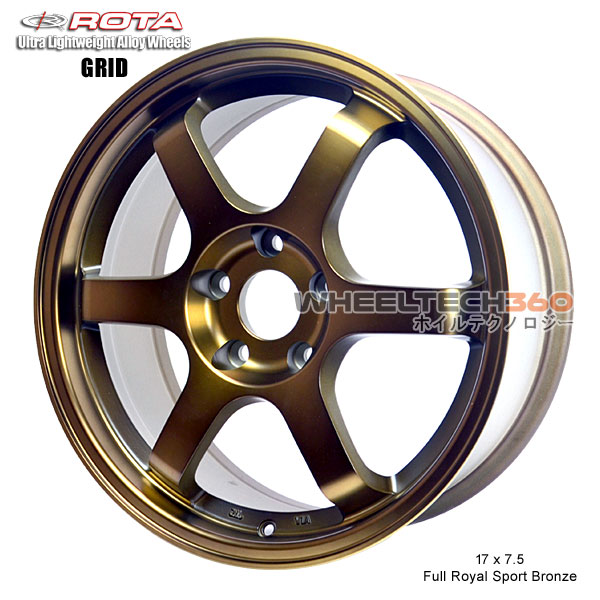 ROTA Wheel Grid (17x7.5, 5x114.3+45mm, 73mm Hub)