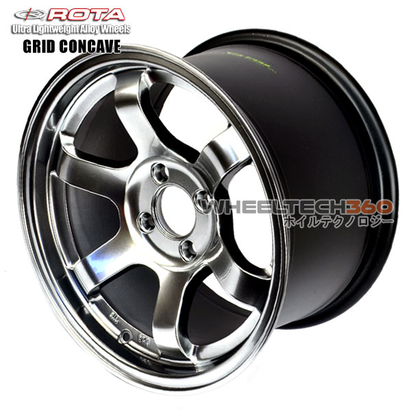 ROTA Wheel Grid Concave (15x9, 4x100+36mm, 67.1mm Hub)