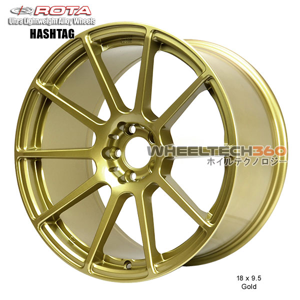 ROTA Wheel Hashtag (18x9.5, 5x100+38mm, 73mm Hub)