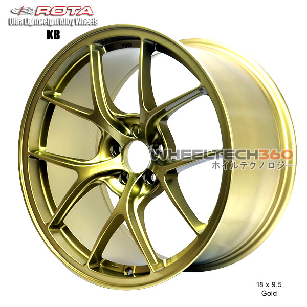 ROTA Wheel KB-R (18x9.5, 5x114.3+38mm, 73mm Hub)