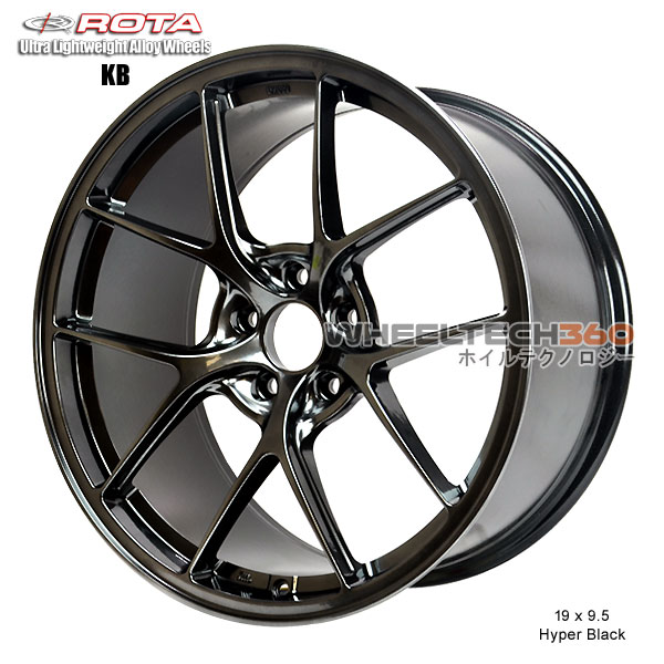 ROTA Wheel KB-R (19x9.5, 5x100+40mm, 73mm Hub)
