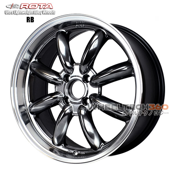 ROTA Wheel RB (17x7.5, 4x100+45mm, 56.1mm Hub)
