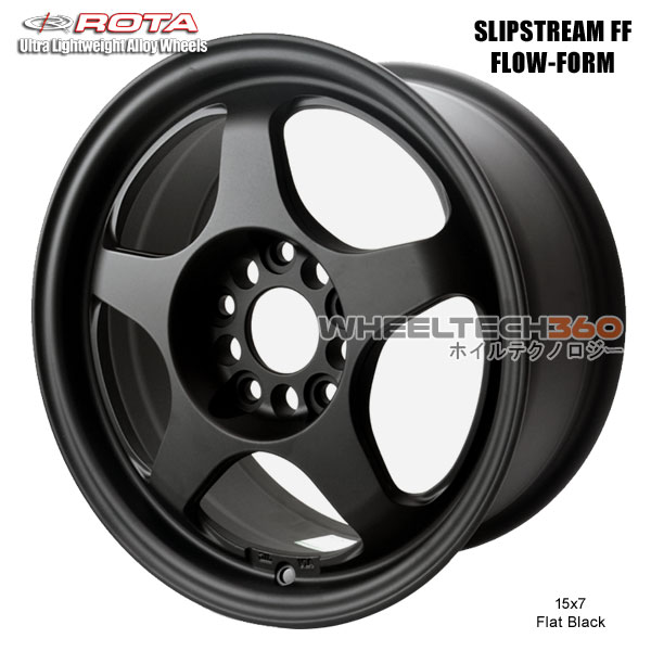 ROTA Wheel Slipstream Flow-Form (15x7, 5x114.3+40mm, 73mm Hub)