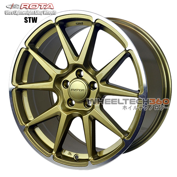 ROTA Wheel STW (17x8, 5x114.3+44mm, 73mm Hub)
