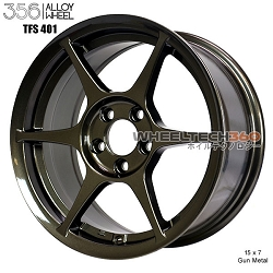 356 Racing Wheel TFS-401 15 x 7 Gun Metal