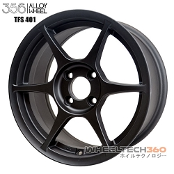 356 Racing Wheel TFS-401 Flat Black 15x7