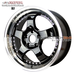 Rota Wheel D2 Royal Yamaha Black 18x8