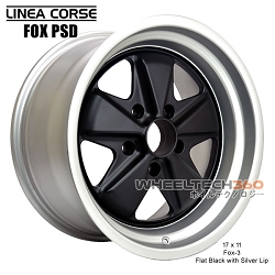 Linea Corse Fox PSD (Fox 3, 17x9 Flat Black with Silver Lip)