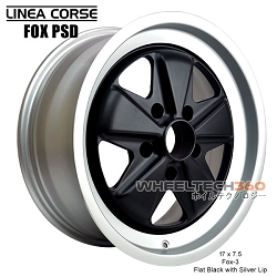 Linea Corse Fox PSD (Fox 3, 17x7.5 Flat Black with Silver Lip)