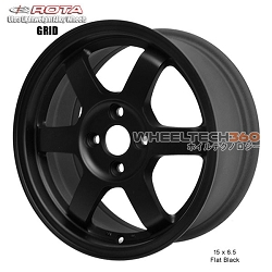 Rota Wheel Grid 15 x 6.5 Flat Black