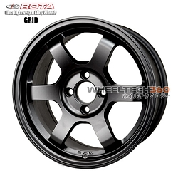 Rota Wheel Grid Flat Black 15x7