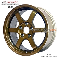 Rota Wheel Grid 16 x 7 Full Royal Sport Bronze