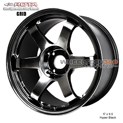 Rota Wheel Grid Hyper Black 17 x 9.5