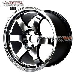 Rota Wheel Grid Hyper Black 17x9.5