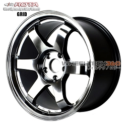 Rota Wheel Grid Hyper Black 17x9
