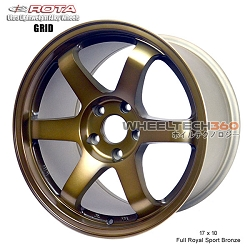 Rota Wheel Grid 17 x 10 Full Royal Sport Bronze