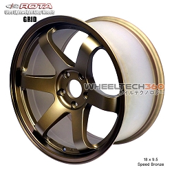 Rota Wheel Grid 18 x 9.5 Speed Bronze