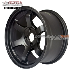 Rota Wheel Grid Concave Flat Black 15x8