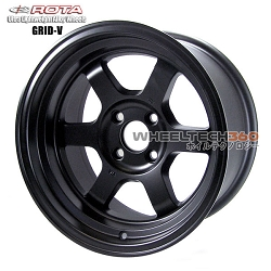 Rota Wheel Gird V Flat Black 15x8