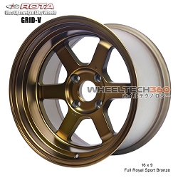 Rota Wheel Grid V 16 x 9 Full Royal Sport Bronze