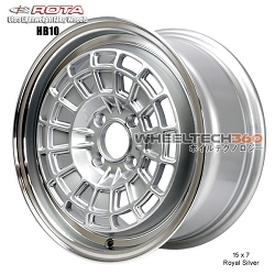 Rota Wheel HB10 15 x 7 Royal Silver