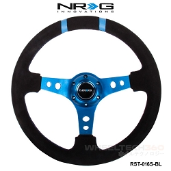 NRG Steering Wheel (Deep Dish, RST-016S-BL)