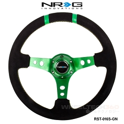 NRG Steering Wheel (Deep Dish, RST-016S-GN)