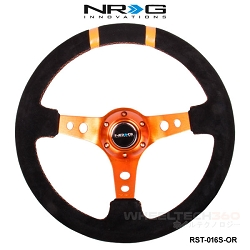 NRG Steering Wheel (Deep Dish, RST-016S-OR)