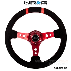 NRG Steering Wheel (Deep Dish, RST-016S-RD)