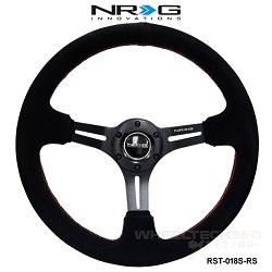NRG Steering Wheel (Deep Dish, RST-018S-RS)