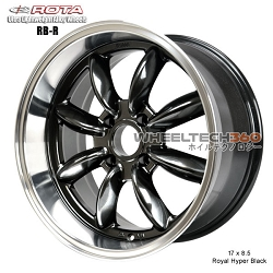 Rota Wheel RB-R 17 x 8.5 Royal Hyper Black