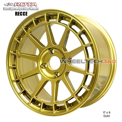 Rota Wheel Recce 17 x 8 Gold