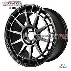 Rota Wheel Recce 17 x 8 Flat Black