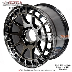 Rota Wheel Recce 18 x 8.5 Hyper Black