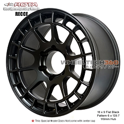 Rota Wheel Recce 18 x 9 Flat Black
