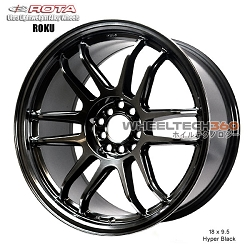 Rota Wheel Roku 18 x 9.5 Hyper Black
