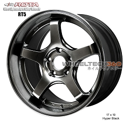 Rota Wheel RT5 17 x 10 Hyper Black