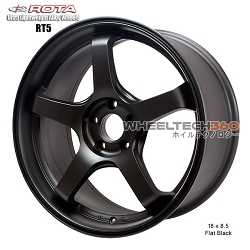 Rota Wheel RT5 18 x 8.5 Flat Black