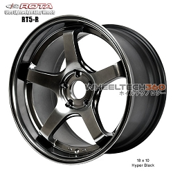 Rota Wheel RT5-R 18 x 10 Hyper Black
