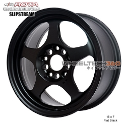 Rota Wheel Slipstream 15 x 7 Flat Black