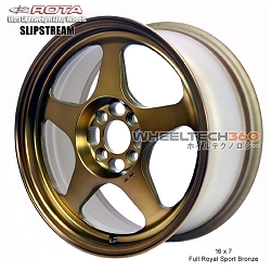 Rota Wheel Slipstream 16 x 7 Full Royal Sport Bronze