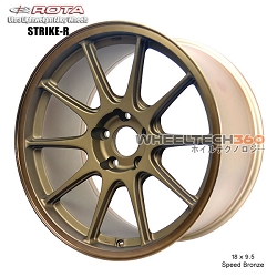 Rota Wheel Strike-R 18 x 9.5 Speed Bronze