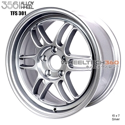 356 Racing Wheel TFS-301 15 x 7 Silver