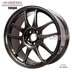Rota Wheel Torque 17 x 8 Gun Metal