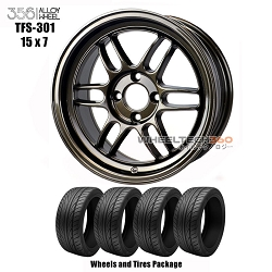 356 Racing Wheels TFS-301 (15x7) Wheels and Tires Package